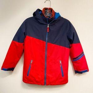 Lands' End Boy's Full Zip Lined Winter Coat Sz S